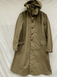 Imperial Japanese Army Flap Pocket Coat With Hood 1944 Military Antique Japan