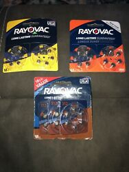 Lot Of Rayovac Hearing Aid Batteries Size 10 And 312 Date Has Expired. Pictures