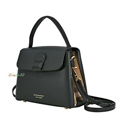 New Authentic Burberry Small Camberley Derby Leather House Check Satchel $1150.00