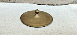1920s Vintage Beautiful Bell Metal Bronze Round Paper Weight Collectable