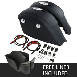 Matte Black Saddlebags Electronic Latches Liner Fit For Indian Springfield 16-18