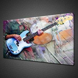 Musician On The Stage Guitar Drums Canvas Print Wall Art Picture Photo