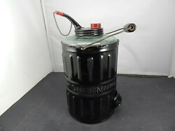 1878 Queen Glass And Steel Kerosene Can For Filling Lamps Stoves And Lanterns