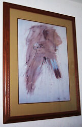 1982 W. B. Franklin Navajo Spirits Framed And Matted Serigraph Hand Signed By The