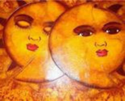 2003 Tony Almonte Eclispe Dominican Contemporary Love Romantic Art Painting Si