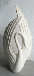 Haeger 1996 Ceramic Large Swan White Textured Finish Collectible Pottery Display