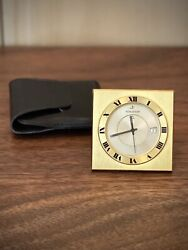 Vintage Jaeger-lecoultre Memovox Travel Alarm Clock + Date Swiss Made, W Pouch