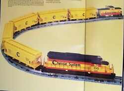 Lionel 11705 Sd-40 Chessie Freight Set With Extra Sd-40 Dummy 18204 New