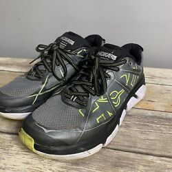 Hoka One One Infinite Menandrsquos Sz 8 Gray Green Cushioned Running Shoes F10015l