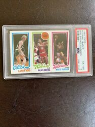 1980 Topps Basketball Larry Bird And Magic Johnson Rc Rookie Julius Erving Psa 6