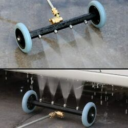 2-in-1 Pressure Washer Undercarriage Cleaner Water Broom Under Car Cleaning Kit