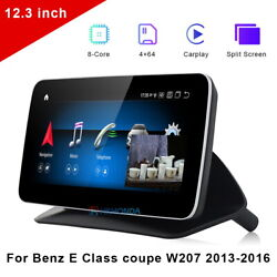 12.3 Car Gps Navigation Stereo Wifi Android For Benz E Class Coupe W207 2013-16
