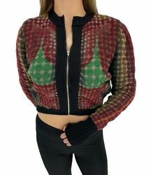 Auth Jean Paul Gaultier Vintage Mad Max Cyber Dot 1995 Aw Cropped Jacket Rankab