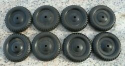 Lot 8 Vintage Nos Plastic Replacement Toy Tires Brand New Old Stock 2 Diameter