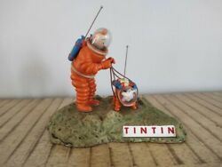 Extremely Rare Tintin With Snowy Walking On The Moon Figurine Statue