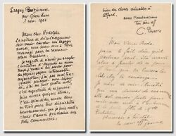 Pissarro, Camille Painter - Fine Autograph Letter Signed To His Son Rodolphe