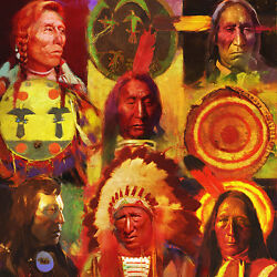 R. Tom Gilleon Men At Arms Giclee Canvas Native Americans Artist Proof A/p
