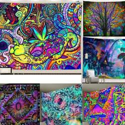 Psychedelic Indian Wall Hanging Large Tapestry Bohemian Hippie Mandala Bedspread