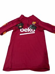 New With Tag Nike Drifit F.c. Barcelona Stike Soccer Drill Top Size Small
