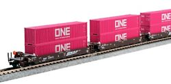 Kato 106-6195 N Gunderson Maxi-i Double Stack Car Bnsf Swoosh New Just Released