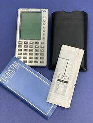 Jeppesen Techstar Electronic Flight Computer W/ Case And Booklet