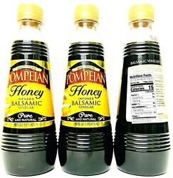 3 Bottles Pompeian 16 Oz Honey Infused Balsamic Vinegar Pure And Natural Bb 2/2022