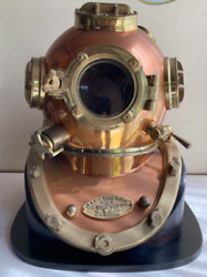 Japanese Antique Divers Diving Helmet With Stand Antique Rare Weight 28kg Used