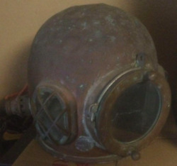 Japanese Antique Divers Diving Helmet Air-supplied Copper Rare Used