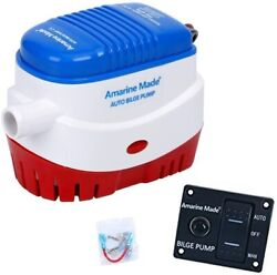 Amarine Made Automatic Submersible Boat Bilge Water Pump 12v 750gph Switch Panel