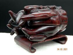 Chinese Altar Fruit Carved Rosewood Buddahand039s Hand Box Buddist Temple Icons Rare