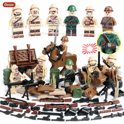 Wwii Japanese Imperial Army Set 6pc Mini Figures Us Seller 100116