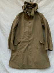 Military Antique Imperial Japanese Army Hoodie Coat Flap Pocket Green 1944 Japan