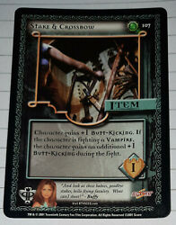 Single Card- Buffy The Vampire Slayer-stake And Crossbow