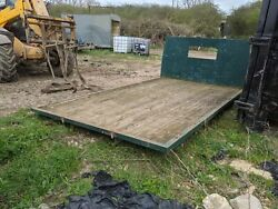 Solid 13ft 9 Long 8ft Wide Flatbed Body For Bale Trailer