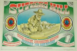Sutters Mill Original Rock And Roll 1967 Vintage Poster By Rick Griffin