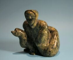 Inuit Stone Carving Transformation By Cape Dorset Artist Tytoosie Tunnillie