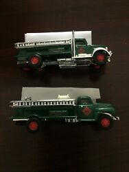 Fire Truck Golden Railway Express Agency Set Of 2 New But No Package