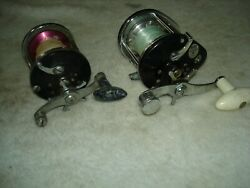 Two Saltwater Conventional Fishing Reels For Parts Or Repair Penn And True Temper