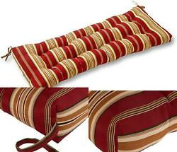 Porch Swing Cushion Padding Outdoor Patio Pillow Bench Seat 44 Red Stripe