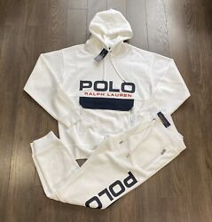 Polo Spell Out Mesh Tracksuit White New W/tags Men's M