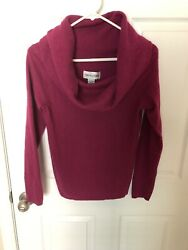 Bloomingdales 100 Cashmere Blouse Size Large Long Sleeve Ruby Vintage