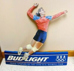 Budweiser Proud Sponsor Of The 1996 Olympics Niven Marketing Volleyball Sign