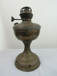 Antique Tchco And Lovell 1888 Brass Oil Lamp