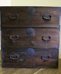 Meiji Era 100-year-old Chest Of Drawers With A Taste Of Antique Chest