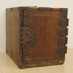 Edo Period Ship Chest Retro Period Furniture Iron Metal Fittings 6 Drawers Antiq