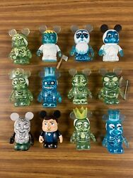 Disney 3 Vinylmation Haunted Mansion Lot/set Of 12 Incl. Chaser And Hatbox Ghost