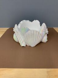 3 Wick Bath Body Works Sea Shell Clam Candle Holder Iridescent New Summer 2021