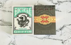 Griffin And Cigar 808 Decks Rare Bicycle Playing Cards Limited 2 Decks Sealed