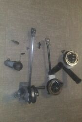 3 Different Sized Walker Downriggers 1 With Weight Fishing Pole Boat