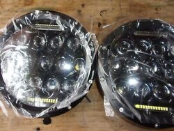 Hmmwv Military Truck 7 Inch Round Led Headlights 1 Pair Plug And Play